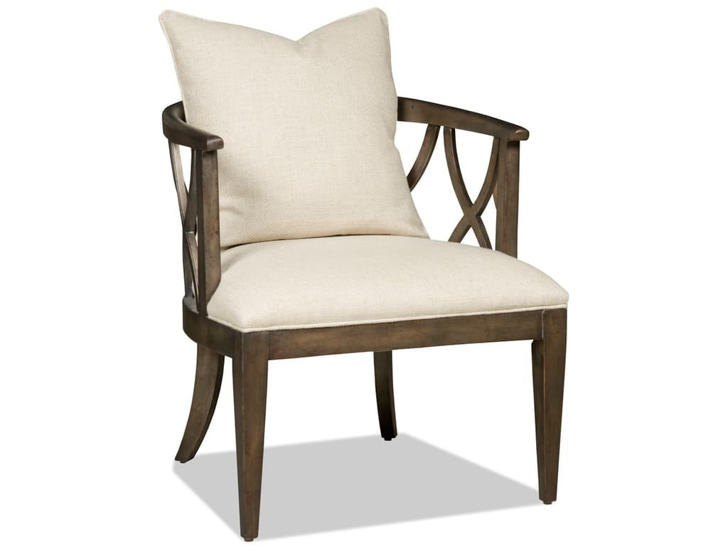 Enjoy the view as you sit on this Hooker Furniture Living Room Accent Chair. What could be more restful?
